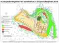 Ecological mitigation for installation of proposed asphalt plant