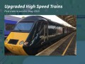 Upgraded High Speed Trains