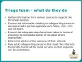 Triage team - what do they do?