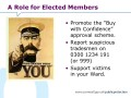 A Role for Elected Members