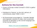 Actions for the Cornish