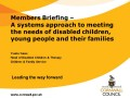A systems approach to meeting the needs of disabled children, young people and their families