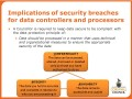 Implications of security breaches for data controllers and processors