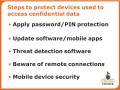 Steps to protect devices used to access confidential data