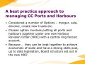 A best practice approach to managing CC Ports and Harbours