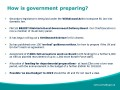 How is government preparing?