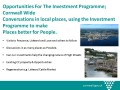Opportunities for the Investment Programme