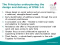 Principles underpinning the           design and delivery of IPBS 1-6
