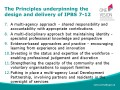 Principles underpinning the           design and delivery of IPBS 7-12