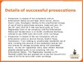 Successful prosecutions